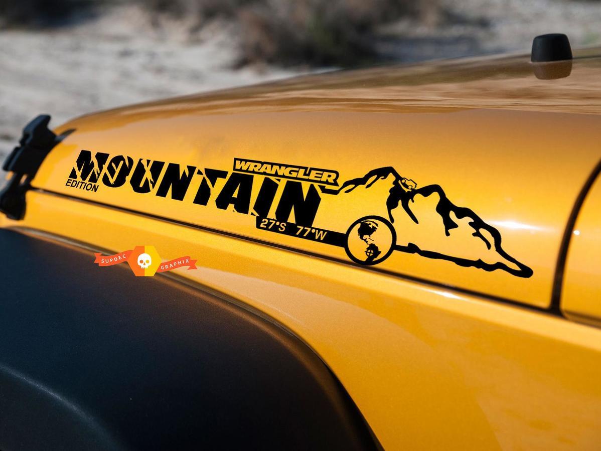 Product Pair Jeep Wrangler Mountain Edition Vinyl Hood