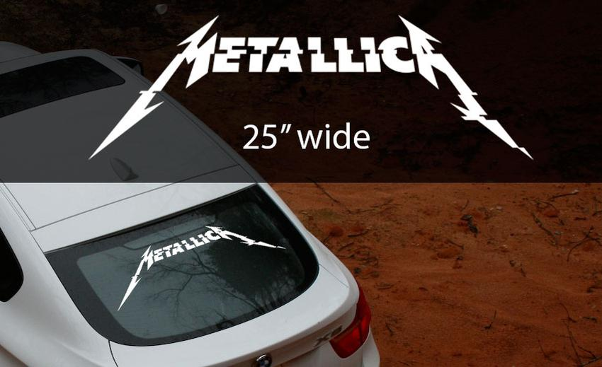 Product metallica rock band thrash metal hardwired to self destruct window decal sticker