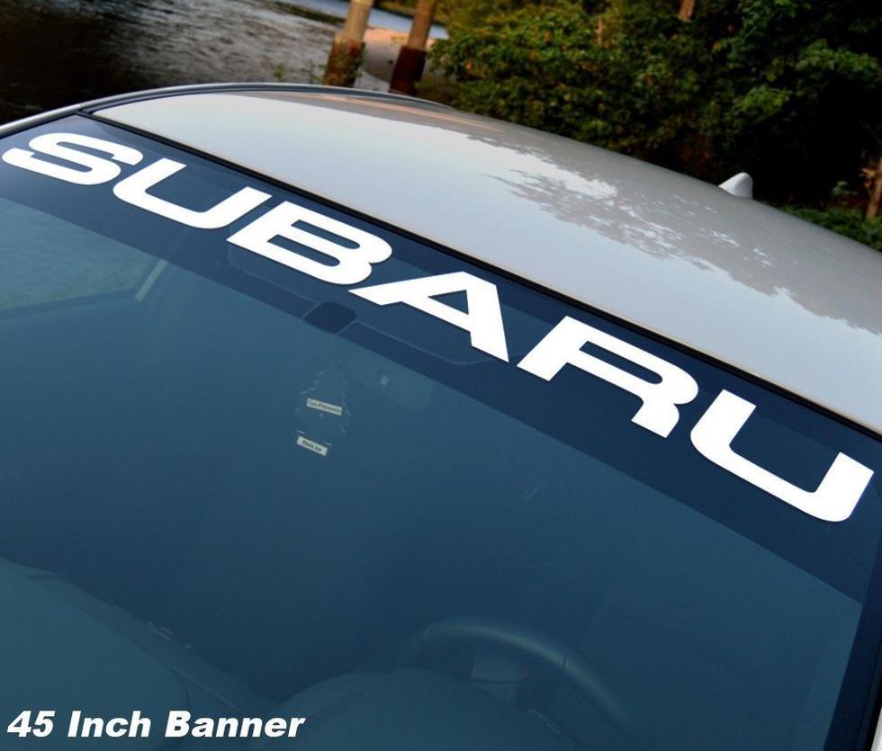SUBARU Windschutzscheibe Vinyl Aufkleber Aufkleber Fenster Aufkleber Grafik impreza STI WRX JDM 1