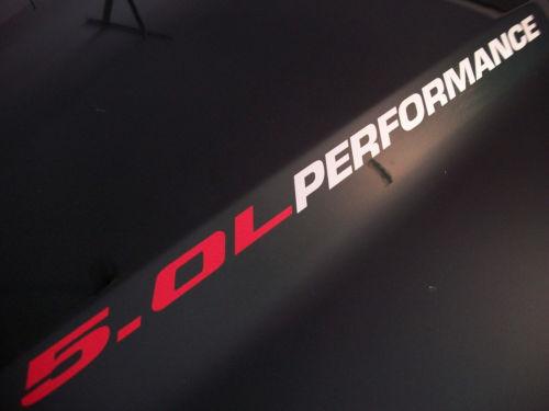 5,0 l LEISTUNG (Paar) Motorhaubenaufkleber Aufkleber Coyote Mustang GT F150 2015