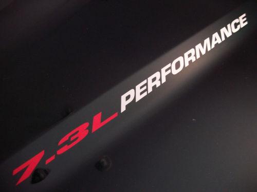 7.3L PERFORMANCE (Paar) Motorhaube Vinyl Aufkleber Aufkleber Emblem Ford Powerstroke