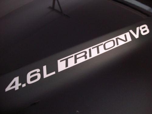 4,6 l Triton V8 (Paar) Motorhaubenaufkleber Aufkleber Emblem Ford F150 F250