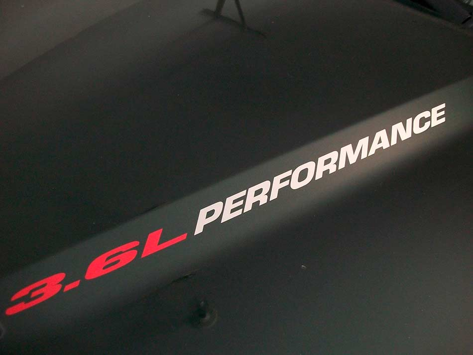 3.6L PERFORMANCE Hood decals 2010 - 2020 Chevrolet Camaro RS V6