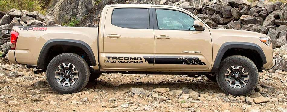 Toyota TACOMA 2016 TRD sport side stripe graphics decal Wild Style