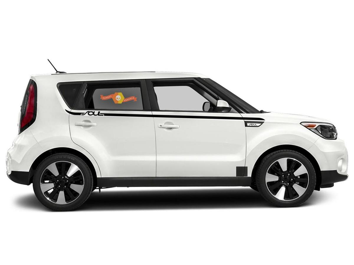 Side Rocker Panel Stripes graphics Decals for Kia Soul 2008- 2020