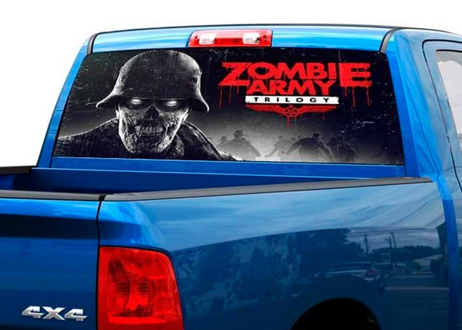 Zombie Army Rear Window Decal Sticker Pick-up Truck SUV Car
