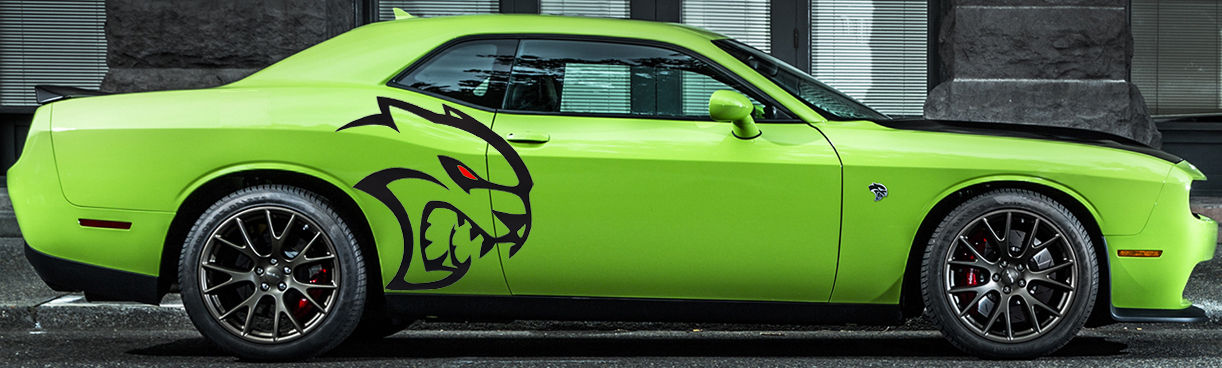 Largest whole hellcat tribal decal graphics vinyl challenger mopar srt logo hemi custom dodge 392 6 4