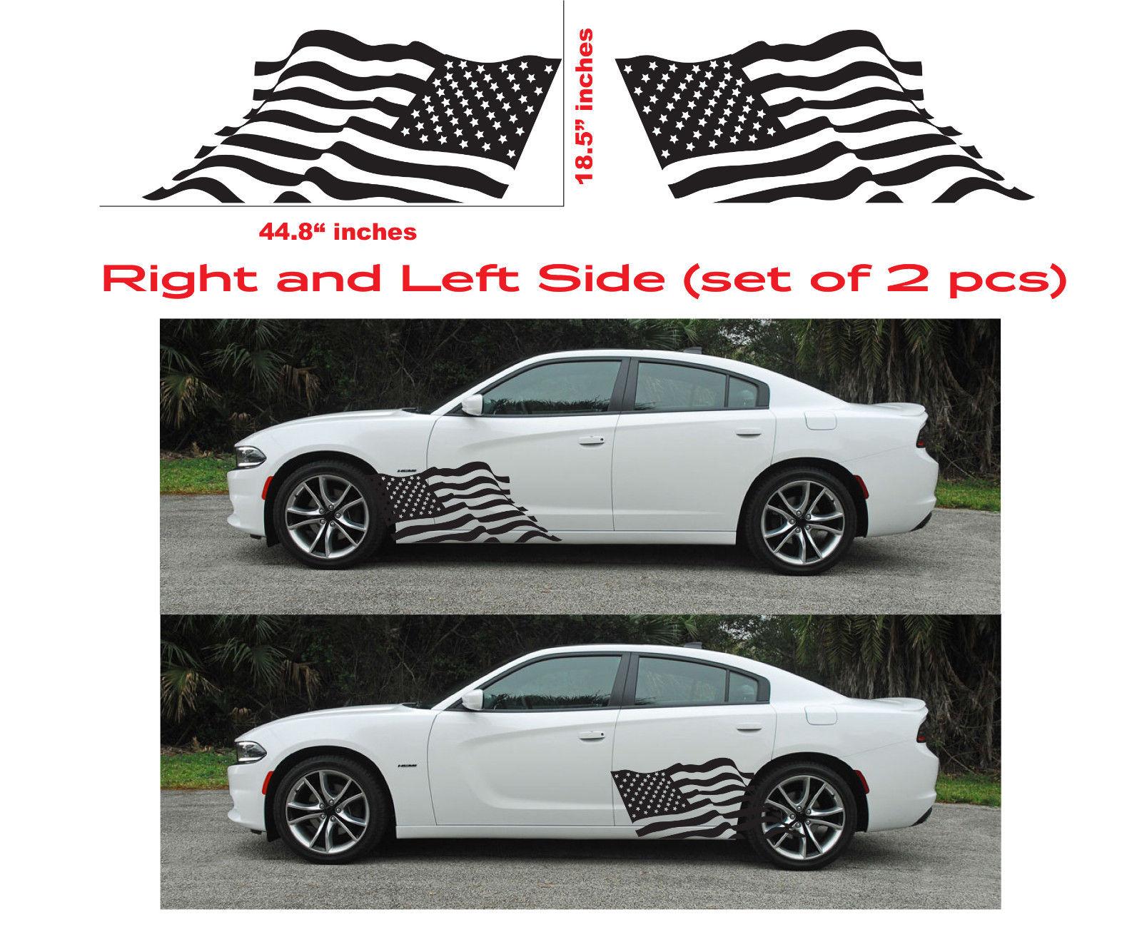 American usa flag dodge charger hellcat srt hemi decal vinyl side door graphics