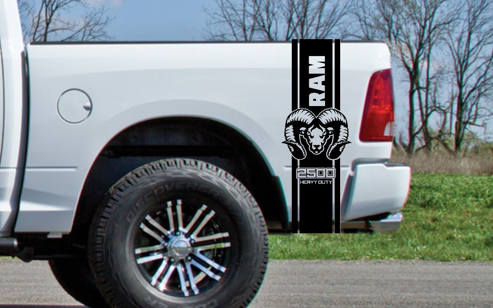 2x dodge bed fender decals ram hemi 3500 heavy duty vinyl body decal stickers