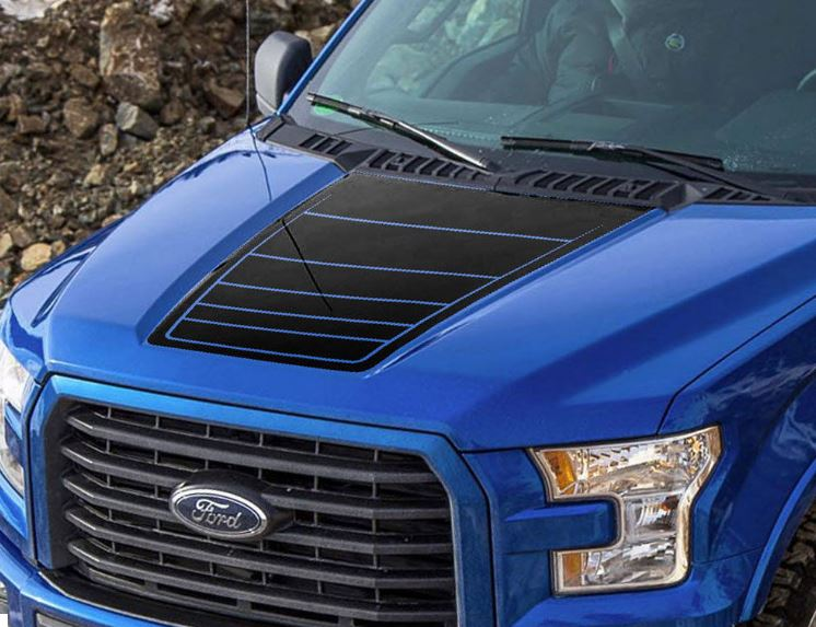 Product Ford F 150 2015 2016 F150 Hood Graphics Side