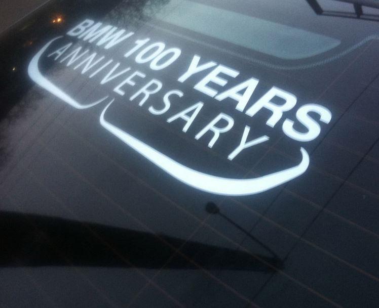 BMW Jubiläum Fensteraufkleber BMW MPower 100 Jahre Aufkleber Aufkleber