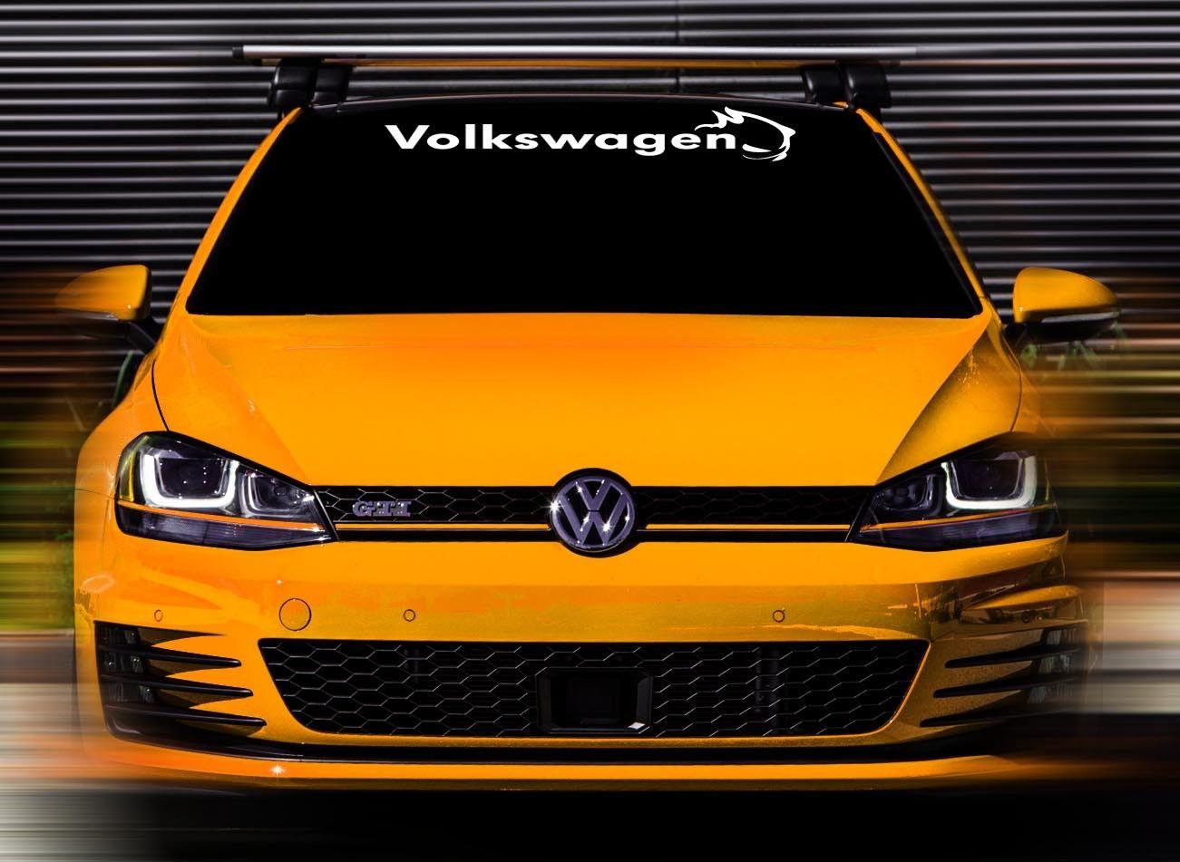 48 x4.5 New Volkswagen GTI White Custom Windshield Decal Sticker