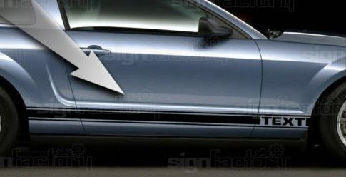Product 2005 2009 Ford Mustang Gt Custom Side Rocker Decals 6