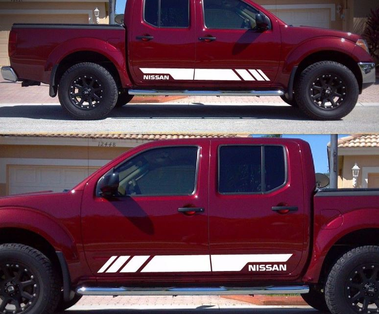 Decal Sticker Graphic Vinyl Stripe Kit For Nissan Frontier Navara Tailgate Guard