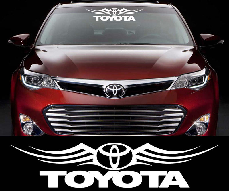 Window Stickers For Cars >> Toyota Racing Decal Sticker Car Window Windshield Cars And Motorcycles