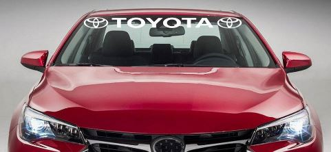 Product TOYOTA Windshield Racing Sports Vinyl Car Window Decal - Car window decal stickers sports
