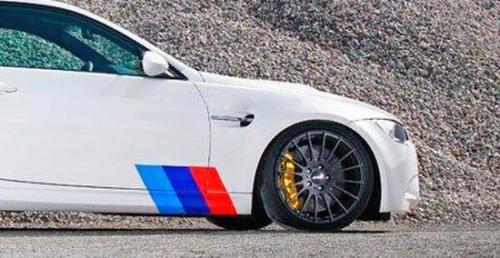 BMW M3 FARBEN Streifen SEITENAufkleber BMW Motorsport M3 M5 M6 X5 E30 E36 E46 alle