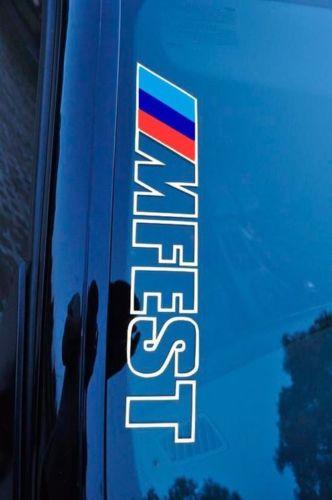 Bimmerfest MFEST Bimmerfest Vinyl Aufkleber Aufkleber passen zu e92 e36 e46 F10 F30 M3 M4 Wettbewerb BMW