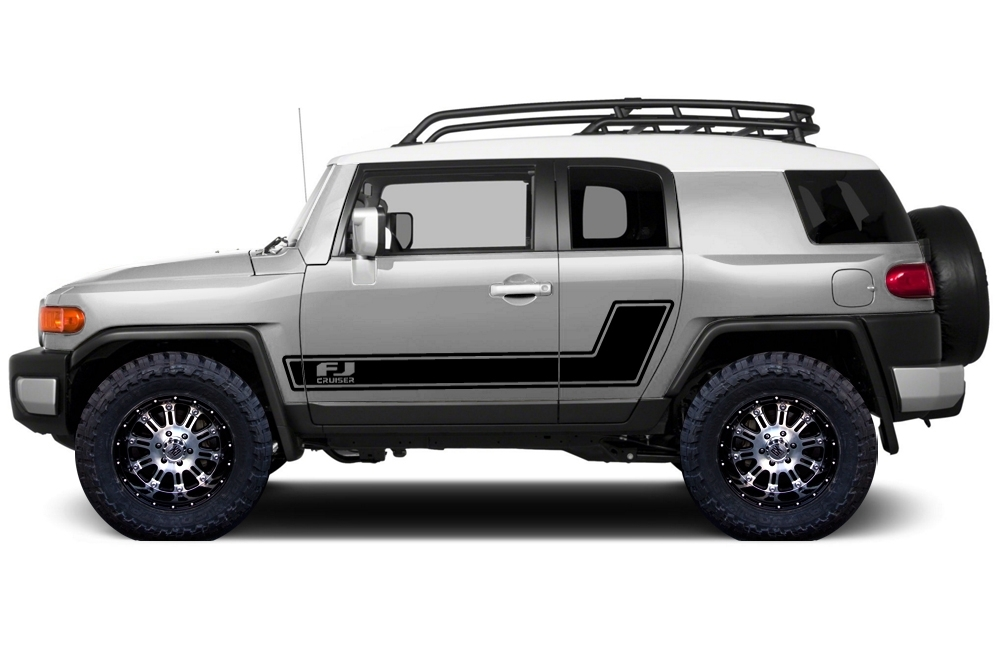 Fj Cruiser Sticker >> Product: Toyota FJ Cruiser 2007-2014 Custom Side Stripe Decal Truck Wrap - FJ STRIPE