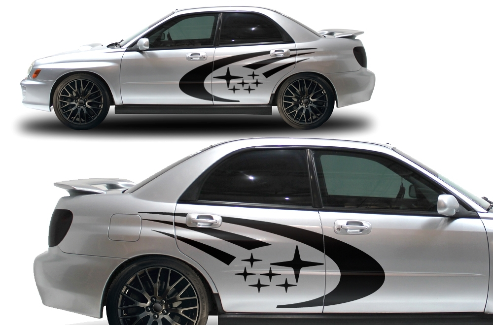 Product Subaru Impreza STI WRX Custom Vinyl Decal Wrap Kit STARS Logo - Custom vinyl decals automotive
