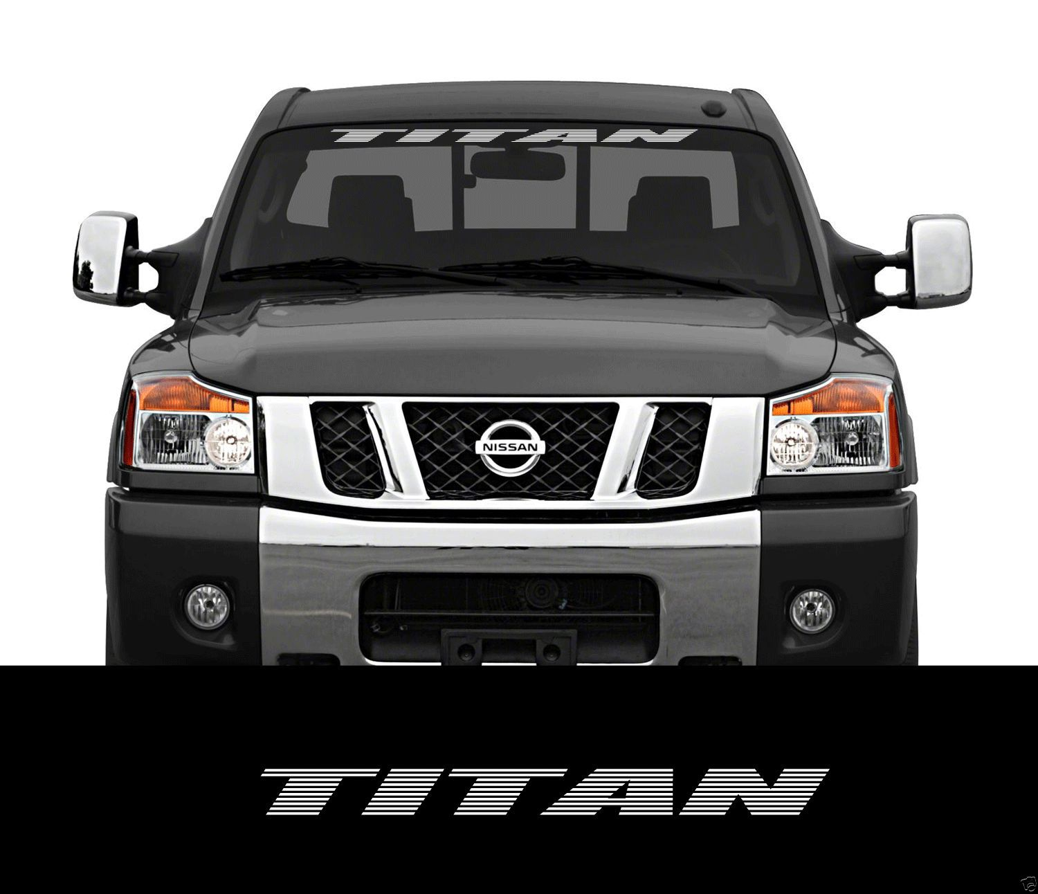 Product TITAN Nissan Front Windshield Window Banner Decal Sticker - Front window stickers for car