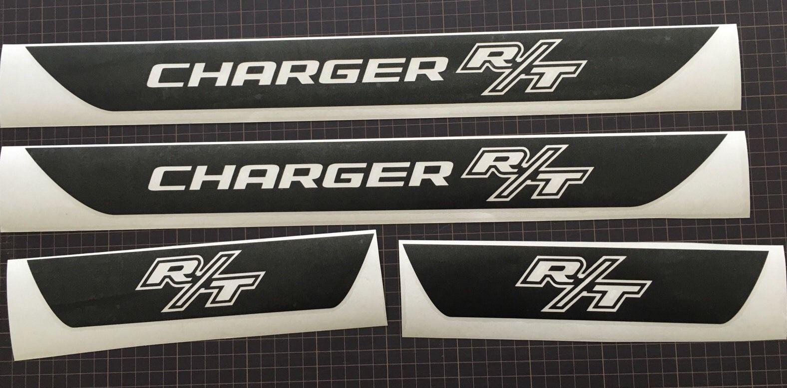 R-T Dodge Charger Vinyl Türschweller Aufkleber 2006 2007 2008 2009 2010