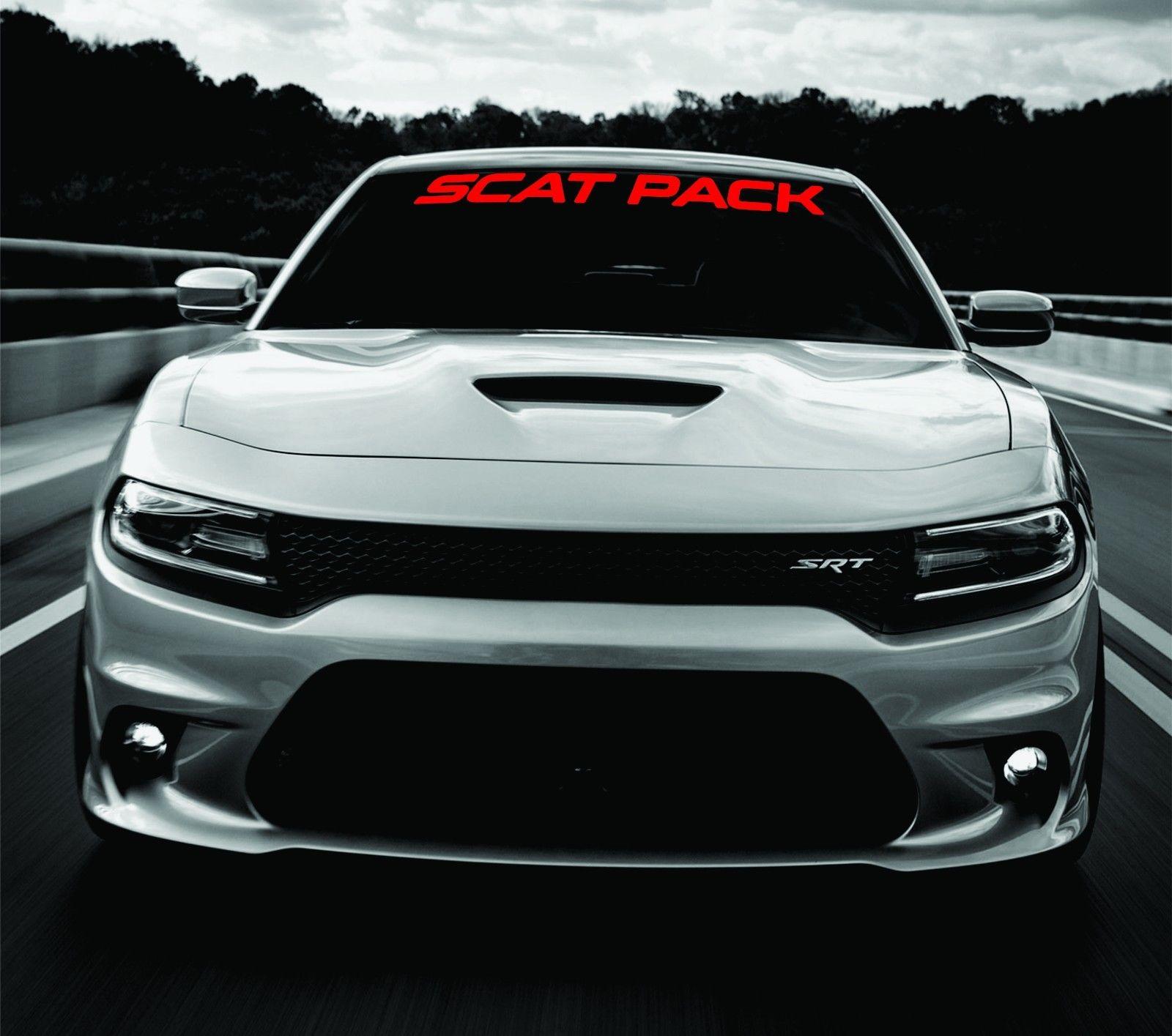 Dodge Charger SCAT PACK Windschutzscheibe Banner Aufkleber 2011-2017 SRT MOPAR 392 Scatpack