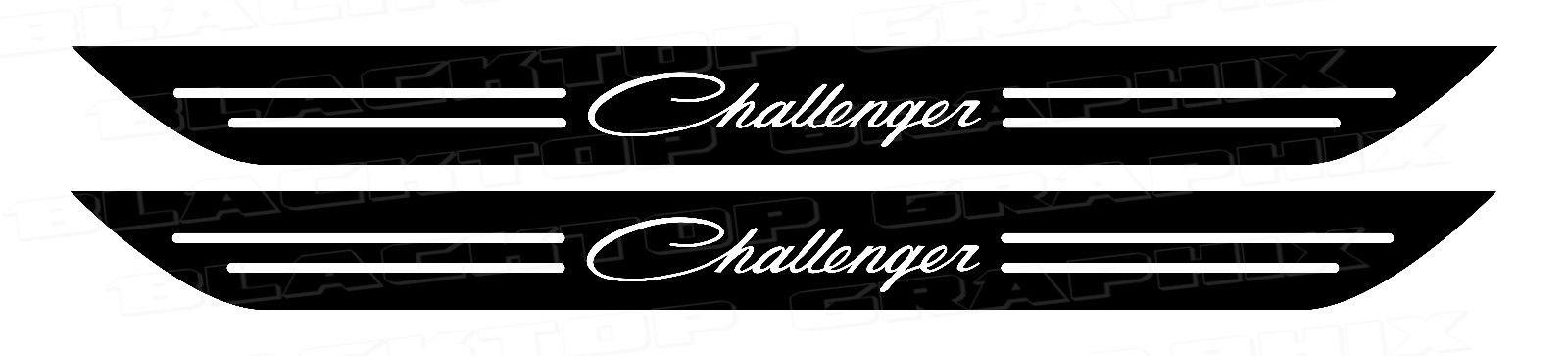 Dodge Challenger Classic Script Türschwellenaufkleber Dodge 2006-2017 MOPAR HEMI