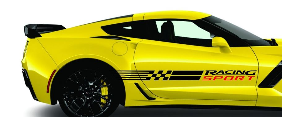 Corvette RACING SPORT STRIPES Vinyl Decals C3 C4 C5 C6 C7 ZO6 ZR1 Stingray More