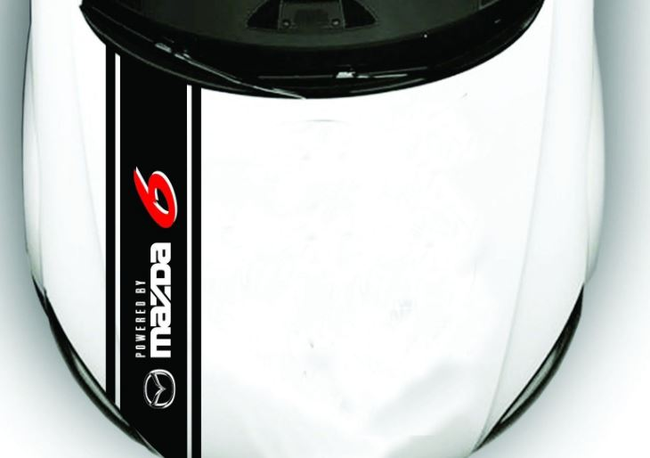 Hood Decal Fits MAZDA 6, Sport, Touring, Grand Touring Fits 2009 to 2017 models