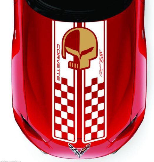 Corvette Racing Hood Aufkleber Streifen C3 C4 C5 C6 C7 ZO6 ZR1 Stingray und viele mehr