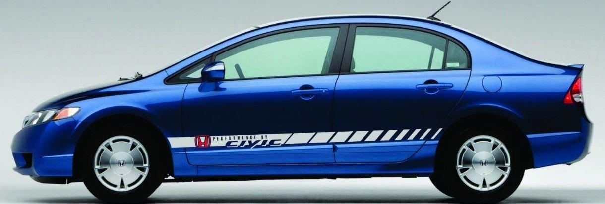 Decal Vinyl Fits HONDA Civic LX, FX, SI Coupe Hybrid Sedan ...