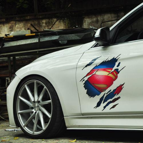 Car sticker superman vinyl auto hood door decal sticker supdec