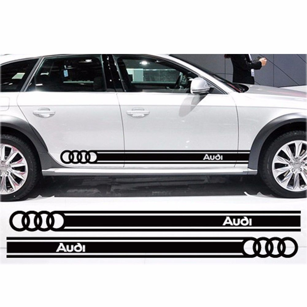 Product beltline body decals car stickers personalized decoration for audi logo