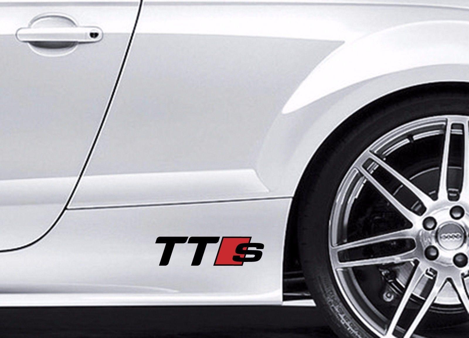 2X AUDI TTS Vinyl body Decal sticker Sport Racing emblem logo premium quality