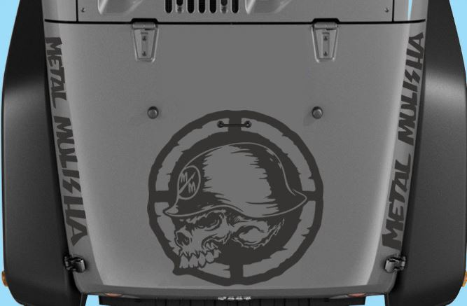 Jeep Wrangler Destressed Metal Mulisha 5 Piece Set Vinyl Decal Stickers H197
