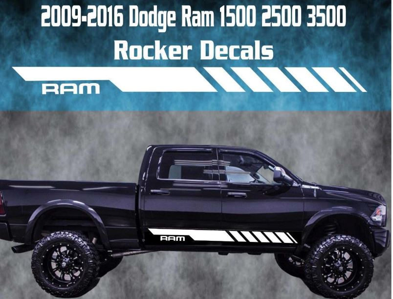 Product 2009 2016 Dodge Ram Rocker Stripe Vinyl Decal