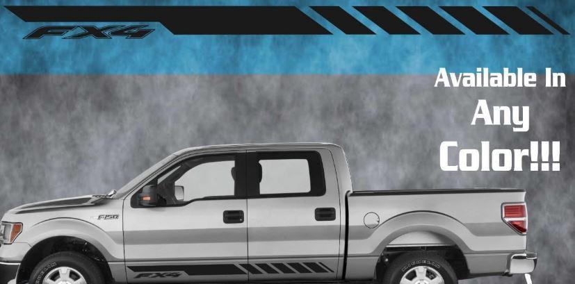 2010 2011 2012 2013 2014 Ford RockerVinyl Aufkleber Aufkleber 4x4 Eco Boost FX4 F150
