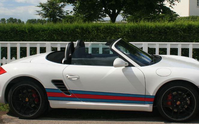 Porsche Boxster 987 Martini Racing Seitenstreifen Grafik Aufkleber