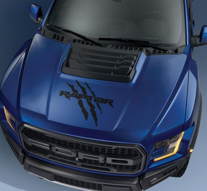 Ford F150 Raptor 2017 hood logo claw graphics decal sticker