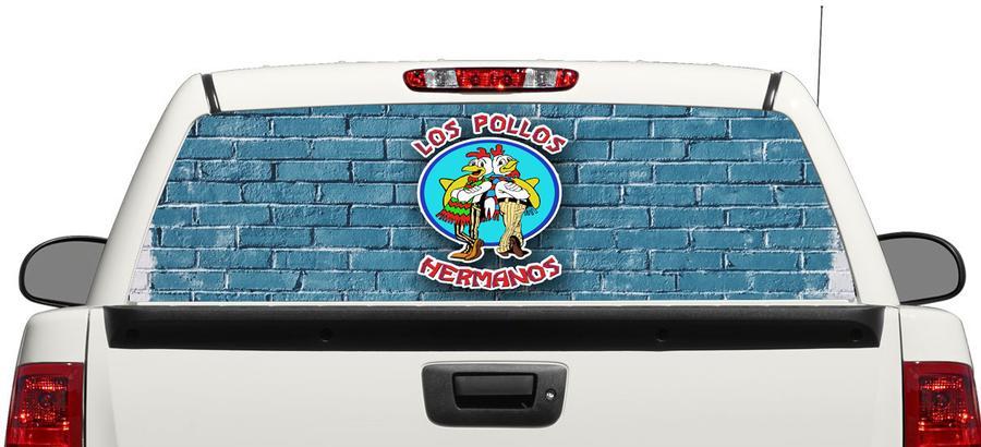 LOS POLLOS BREAKEN SLECHTE ACHTEREN WINDELING DECAL STICKER PICK-UP TRUCK SUV CAR 3