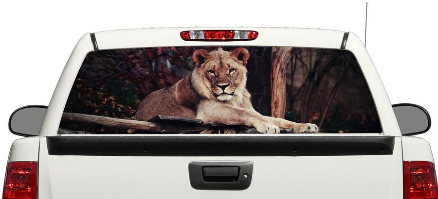 Wild Lion Rear Window Decal Sticker Pick-up Truck SUV Car 3
