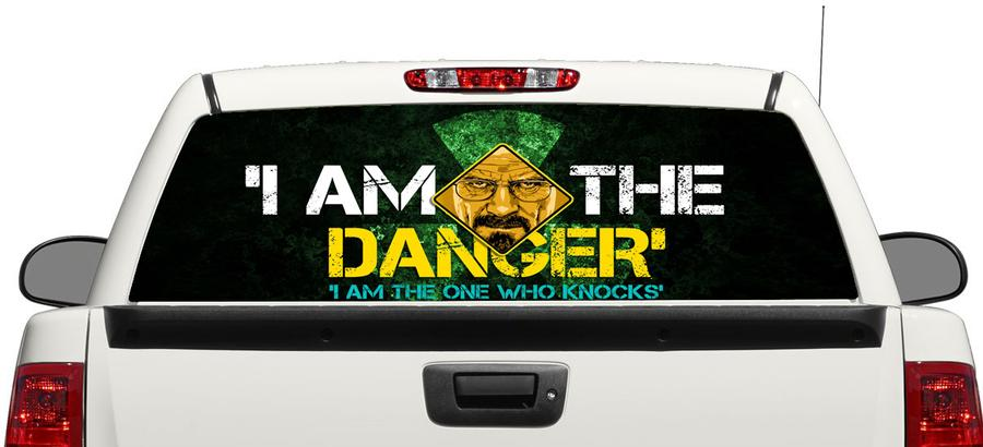 Product Breaking Bad Heisenberg Danger Rear Window Decal Sticker