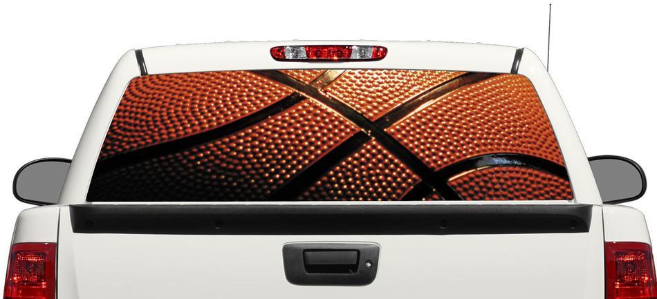 Basketball NBA Sportball Heckscheibe Aufkleber Aufkleber Pick-up Truck SUV Auto 3