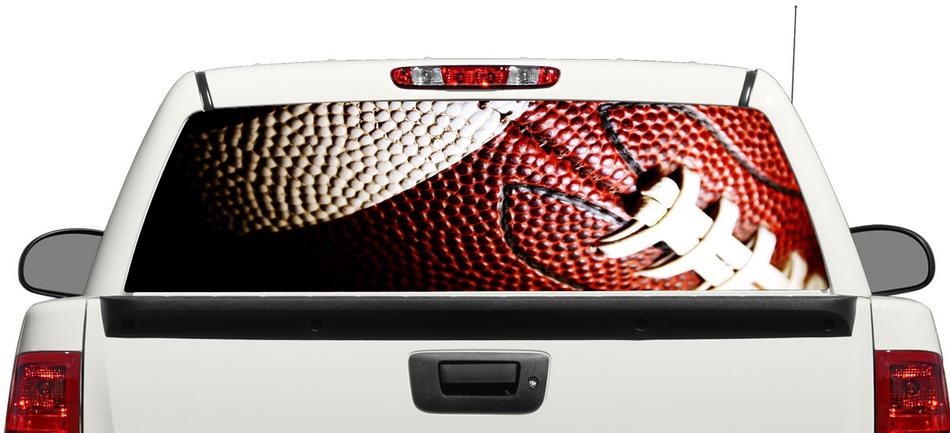 Rugby American Football Sportball Heckscheibe Aufkleber Aufkleber Pick-up Truck SUV Auto 3