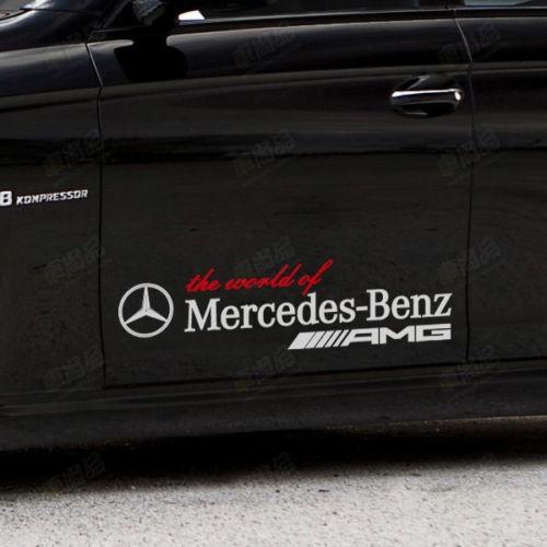 Koppeln Sie die Welt von Mercedes Benz AMG Vinyl Auto Auto Logo Aufkleber Aufkleber