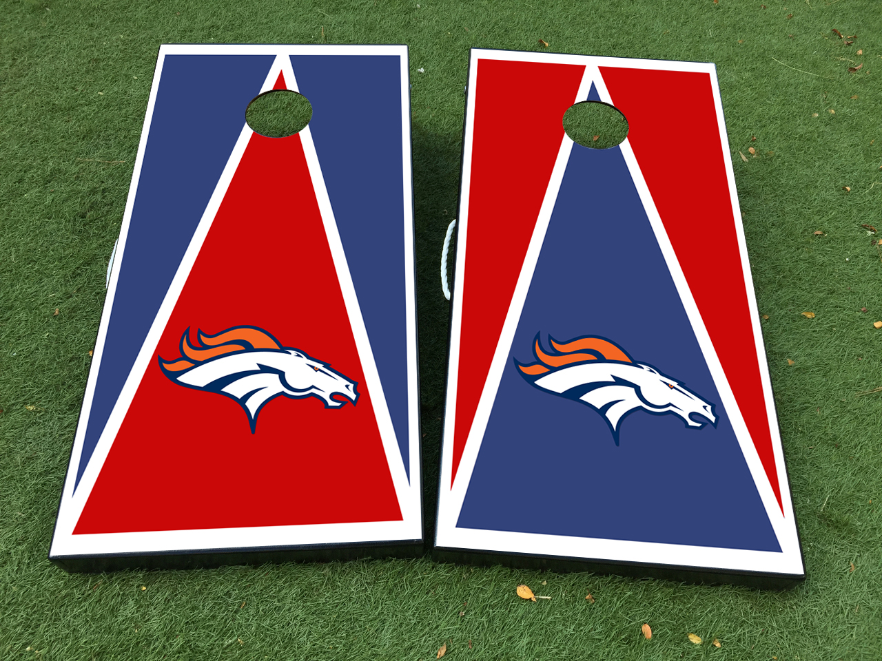 Denver Broncos Cornhole Board Game Decal VINYL WRAPS with LAMINATED