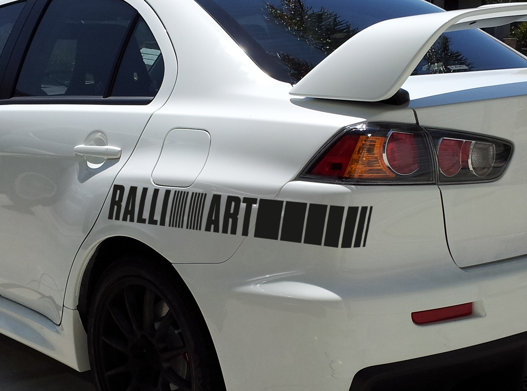2x ralli art rally racing sports 4x4 car vinyl sticker decal fits to mitsubishi evo lancer
