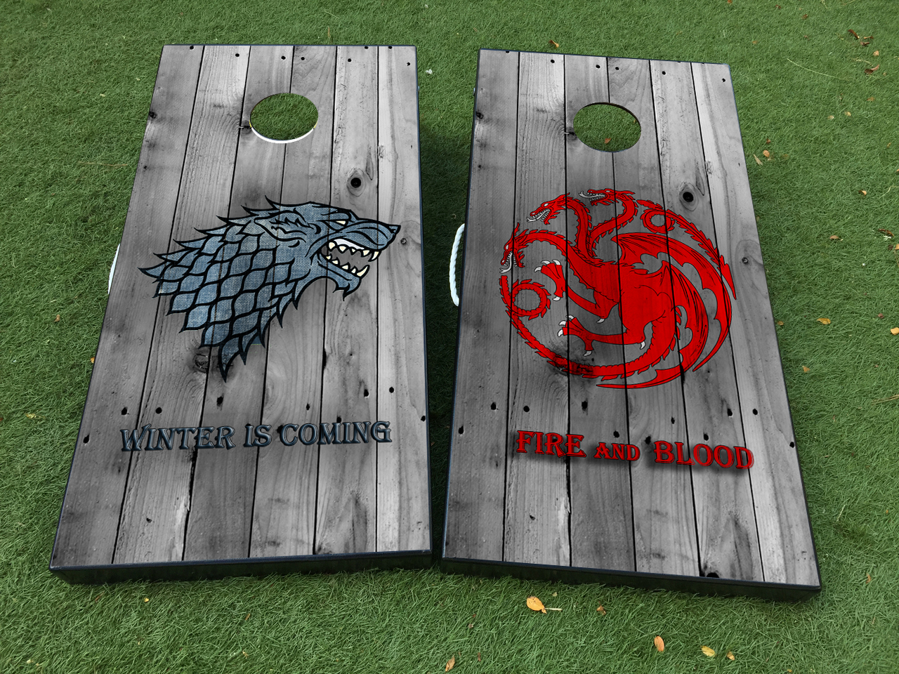 Product game of thrones targaryen stark cornhole board