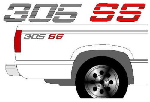305 SS CHEVROLET CHEVY TRUCK BEDSIDE DECALS with COLOR CHOICES